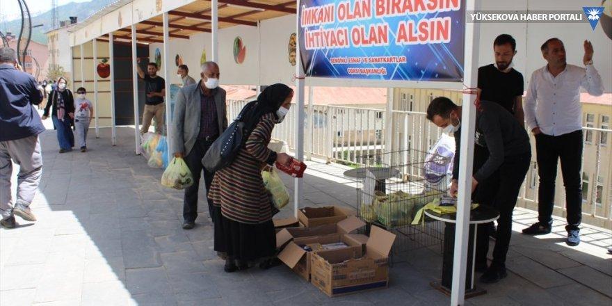 Şemdinli'de 'İmkanı olan bıraksın, ihtiyacı olan alsın' kampanyası