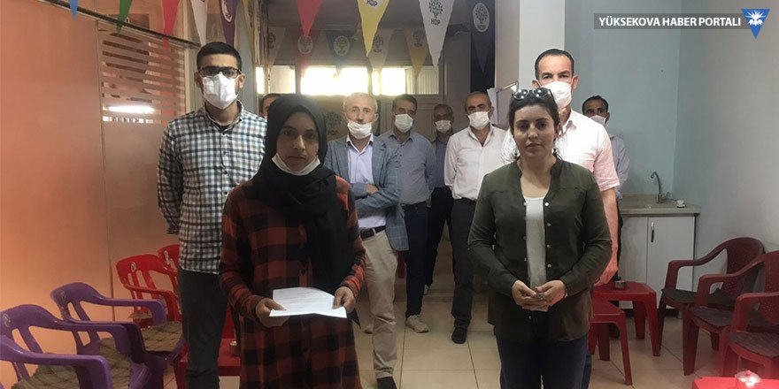 HDP Şemdinli İlçe Örgütü'nden açıklama