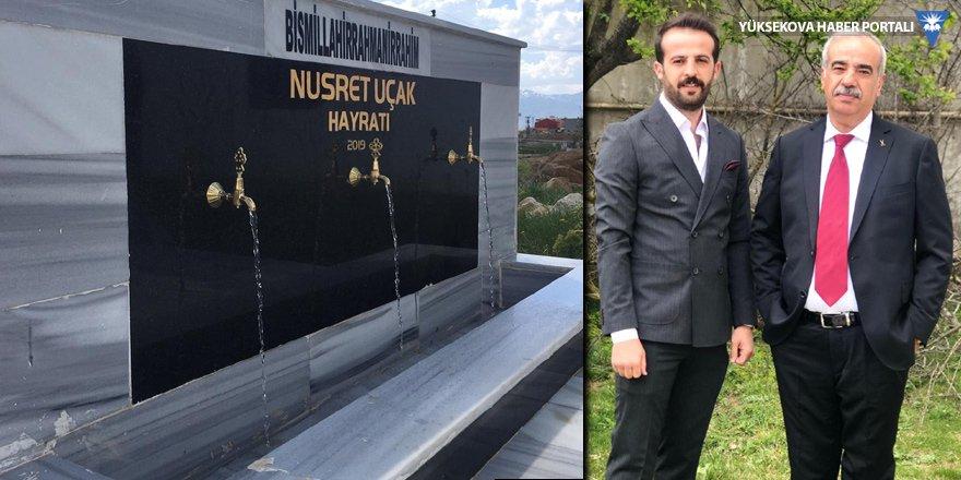 Yüksekova: Babası için mezarlığa hayrat çeşmesi yaptırdı