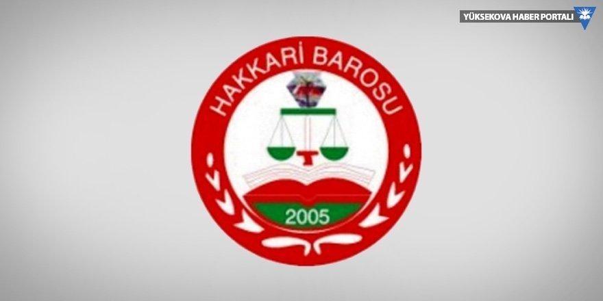Hakkari Barosu'ndan 'tasarı geri çekilsin' açıklaması