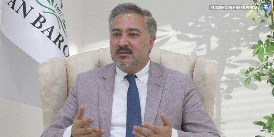 Van Baro Başkanı Uçar: Bize yapılanlar ülkedeki zulmün resmiydi