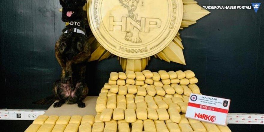 Yüksekova'da 104 kilo eroin ele geçirildi