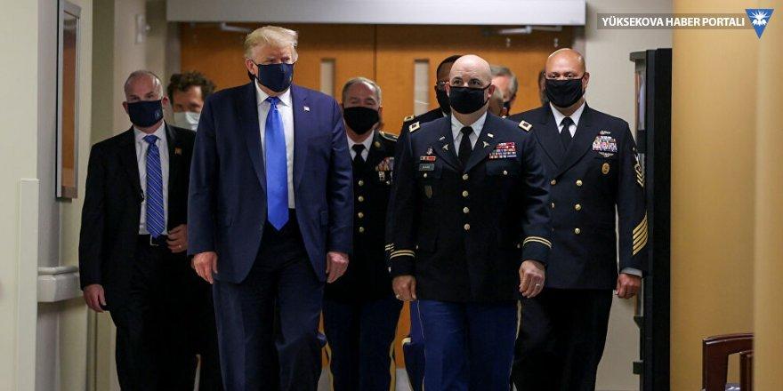 Trump ilk kez maskeyle kameralar karşısında
