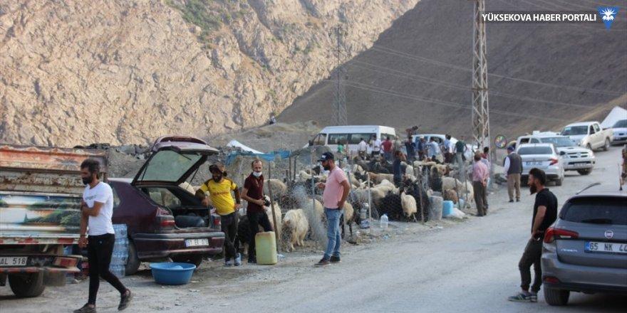 Hakkari'deki kurban pazarında hareketlilik az