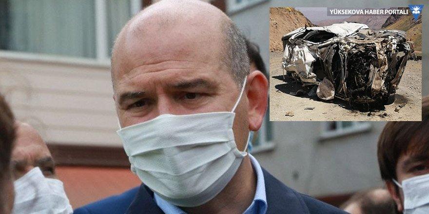Soylu: Yüksekova'daki kazayı öğrendiğim andan itibaren başıma bir ağrı girdi