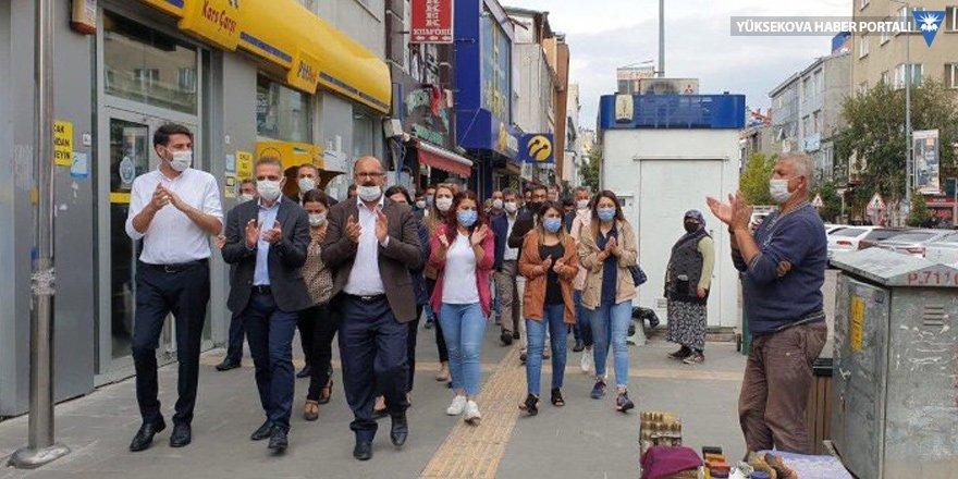 Kars'ta Ayhan Bilgen'e destek yürüyüşü