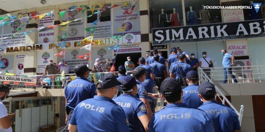 Mardin'de HDP'nin açıklamasına engelleme