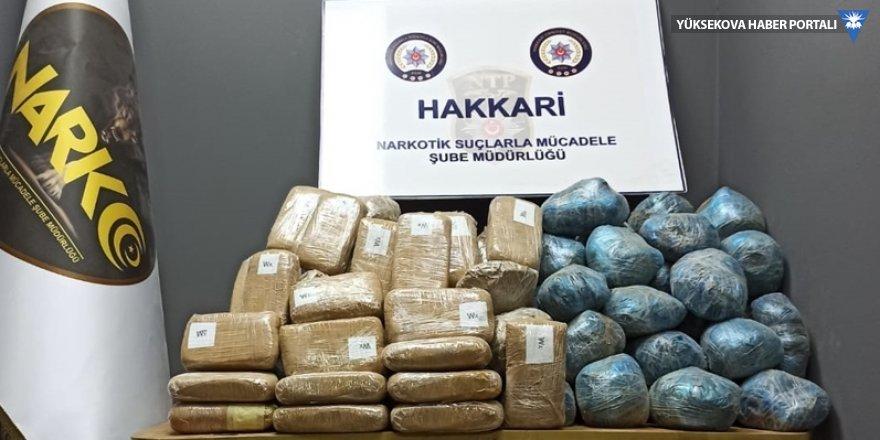 Hakkari ve Yüksekova'da 139 kilo 80 gram uyuşturucu ele geçirildi