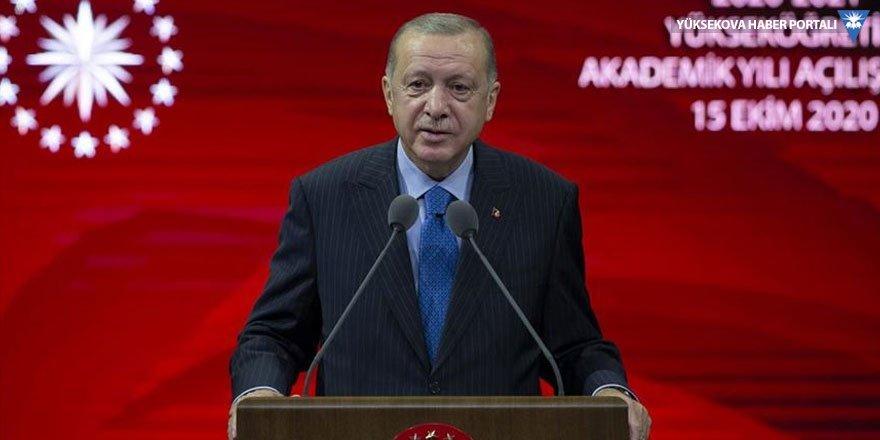 Erdoğan: Üniversitelerde de yüz yüze eğitimi hedefliyoruz