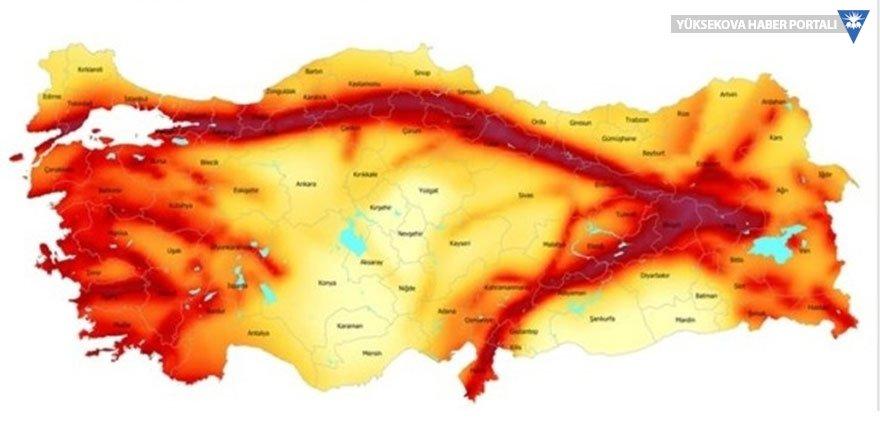 Hakkari ne kadar tehlikede? İşte il il Türkiye'nin deprem haritası