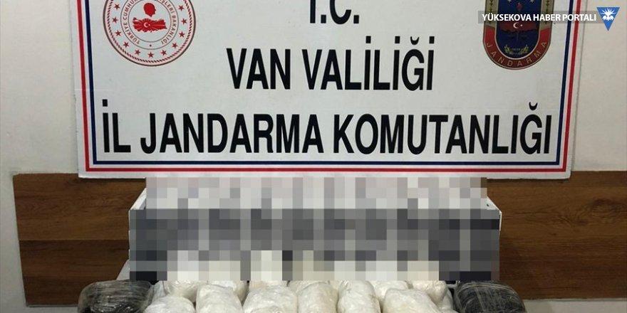Van'da 19 kilogram uyuşturucu ele geçirildi