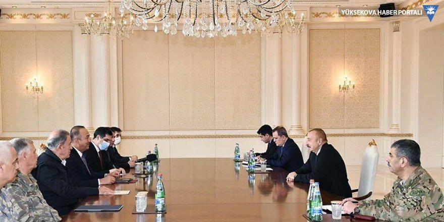 Aliyev, Çavuşoğlu ve Akar'la bir araya geldi
