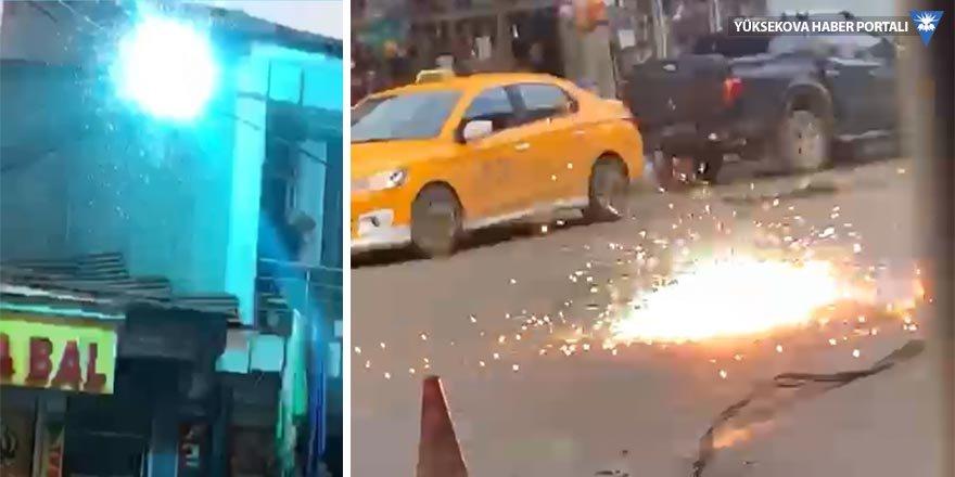 Yüksekova'da kopan elektrik teli tehlike saçtı