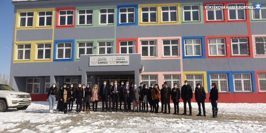 Esendere Belediyesi, Yüksekova'ya bağlı Kadıköy ilk ve ortaokulunu onardı