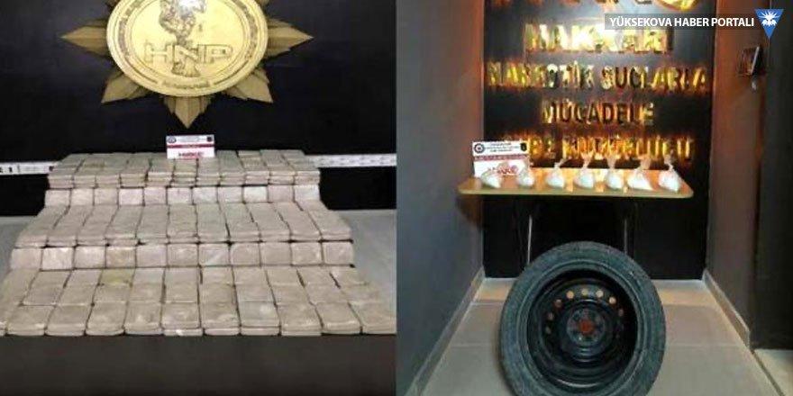 Hakkari ve Yüksekova'da 159 kilo 566 gram uyuşturucu ele geçirildi