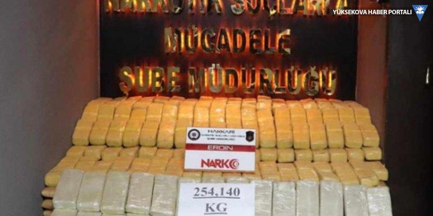 Yüksekova'da 254 kilogram eroin ele geçirildi