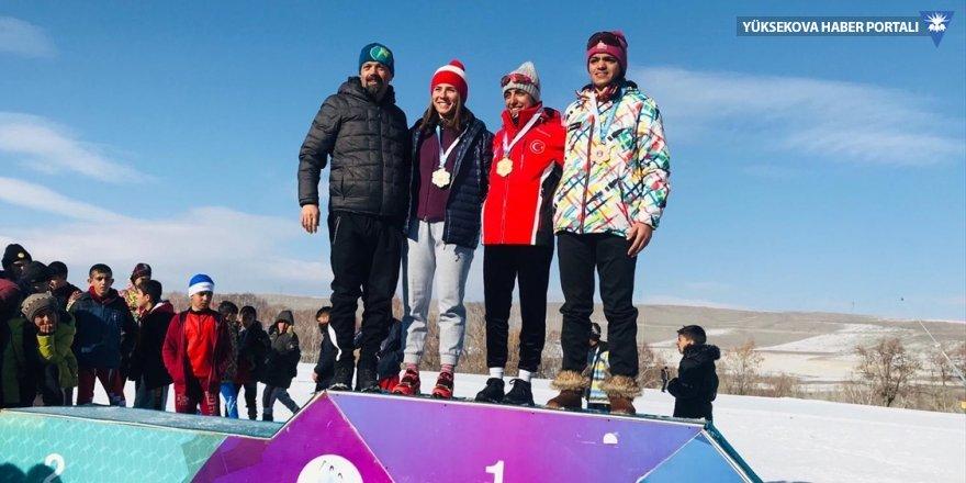 Yüksekovalı kayakçılar Erzurum'dan 25 madalya ile döndü