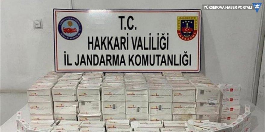Şemdinli'de 383 kutu kaçak ilaç ele geçirildi