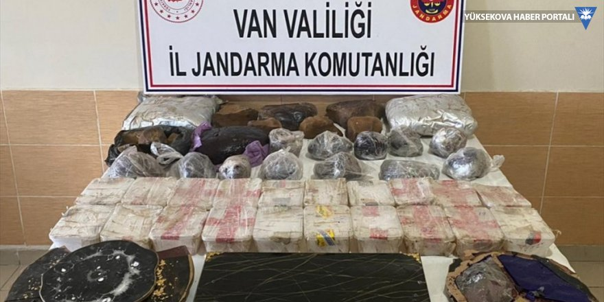 Başkale'de 62 kilogram uyuşturucu ele geçirildi