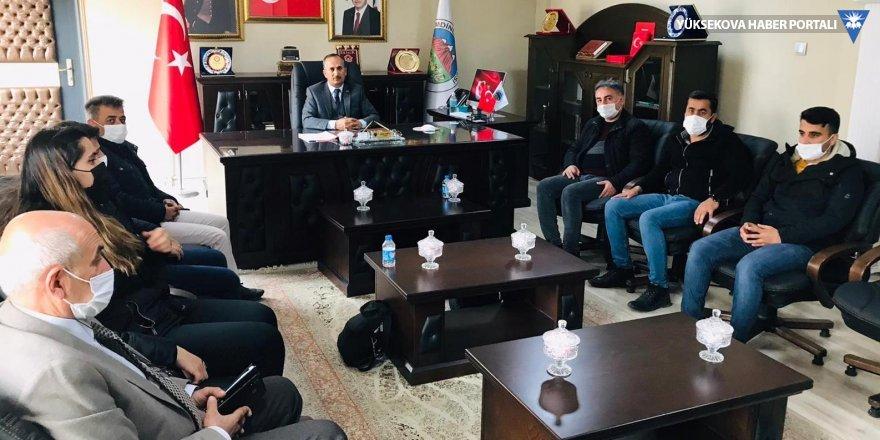 Şemdinli Belediye Başkanı Saklı, gazetecilerle bir araya geldi