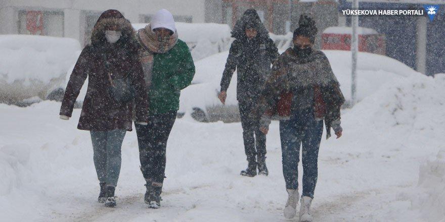 Hakkari'de köy ve mezra yolları kapandı; kar kalınlığı 30 santim oldu