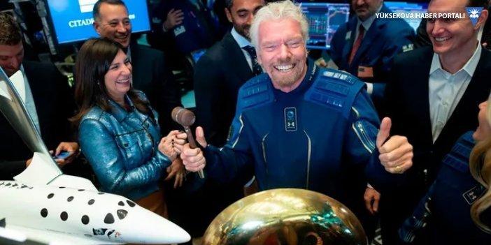 Richard Branson kendi aracıyla uzaya giden ilk milyarder oldu
