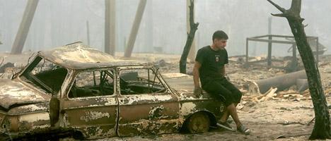 Ağustos'tan şimdiye kadar sadece moskova'da duman nedeniyle