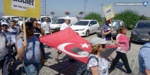 İzmir'den 'Adalet Yürüyüşü' başladı