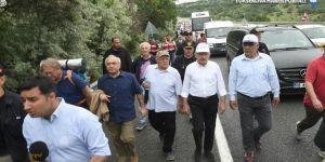 Adalet Yürüyüşü'nde bir partili hastaneye kaldırıldı