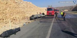 Takla atan otomobil yandı: 1 ölü, 1 yaralı