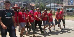 Haluk Levent Srebrenitsa'da barış için yürüdü