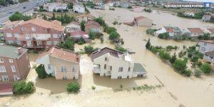 Silivri'de çok sayıda kişi evinde mahsur kaldı