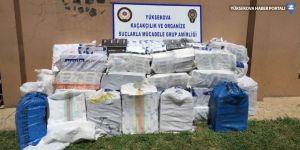 Yüksekova'da 23 bin paket kaçak sigara ele geçirildi