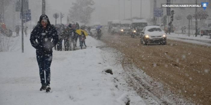 Yüksekova'da kar yağışı: İstanbul uçağı iptal