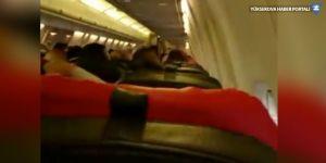 Fırtınaya yakalanan Yüksekova uçağında panik