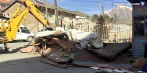 Hakkari'de imar dışı barakalar kaldırılıyor