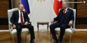 Erdoğan, Ruhani ve Putin'le görüştü