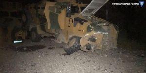Çukurca'da askeri aracın geçişi sırasında patlama
