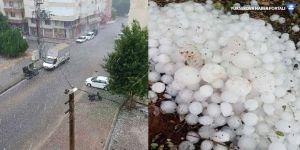 Antalya'da dolu fırtınası, ceviz büyüklüğünde yağdı