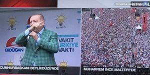 Erdoğan: 5 milyon kişi dediler, 500 kişi yok