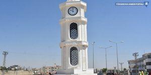 Nusaybin'de yıkılan Newroz Anıtı'nın yerine saat kulesi dikildi