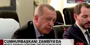 Erdoğan konuşurken Albayrak uyudu