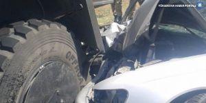 Silvan'da otomobil askeri araca çarptı: 1 yaralı