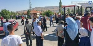 Çiftçiler Ankara-Çankırı yolunu trafiğe kapattı