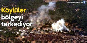 İdlib kırsalı hava ve karadan ateş altında