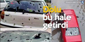 Kastamonu'yu dolu yağışı vurdu: 370 araç ve 90 evde hasar gördü
