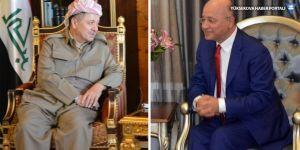 Mesud Barzani ile Behram Salih cumhurbaşkanı adaylığını görüştü