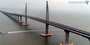 Dünya'nın en uzun köprüsü Çin'de açıldı
