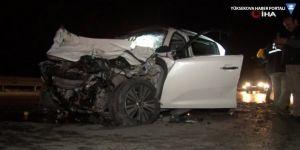 D100'de feci kaza: 2 ölü, 1 ağır yaralı