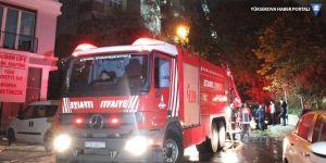 Kadıköy'de 15 katlı binada yangın